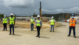 Doriel and other crew members at construction site