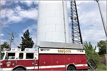 CWC water tank used by local fire department