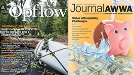 AWWA's Opflow and Journal AWWA periodicals