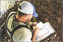 BWD's Matthew Rich records fish species