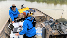 BWD scientists conduct research on optical brighteners in Beaver Lake.