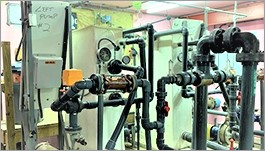 Treatment plant's earth filtration system