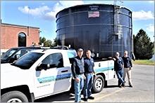 Champlain staff at treatment plant