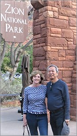 Chi Ho and wife hiking