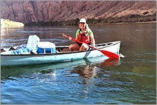 Erin Young in canoe
