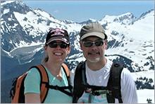 Jeanine and husband, Steve, hiking