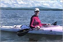 Jeanine kayaking