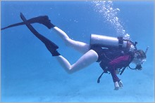 Jeanine scuba diving
