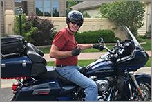 Jim on motorcycle