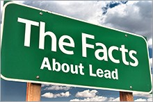Sign that says The Facts About Lead
