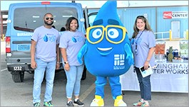 Birmingham Water volunteers at a Hydrate event