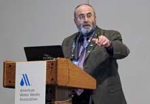 Speaker Issam Najm presenting about PFAS removal