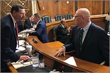 AWWA's Tracy Mehan at Senate hearing.